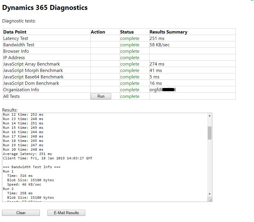 Run Dynamics 365 Diagnostics to check network latency | D365 Demystified