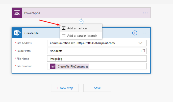 Sending Image from Canvas PowerApps to SharePoint Document