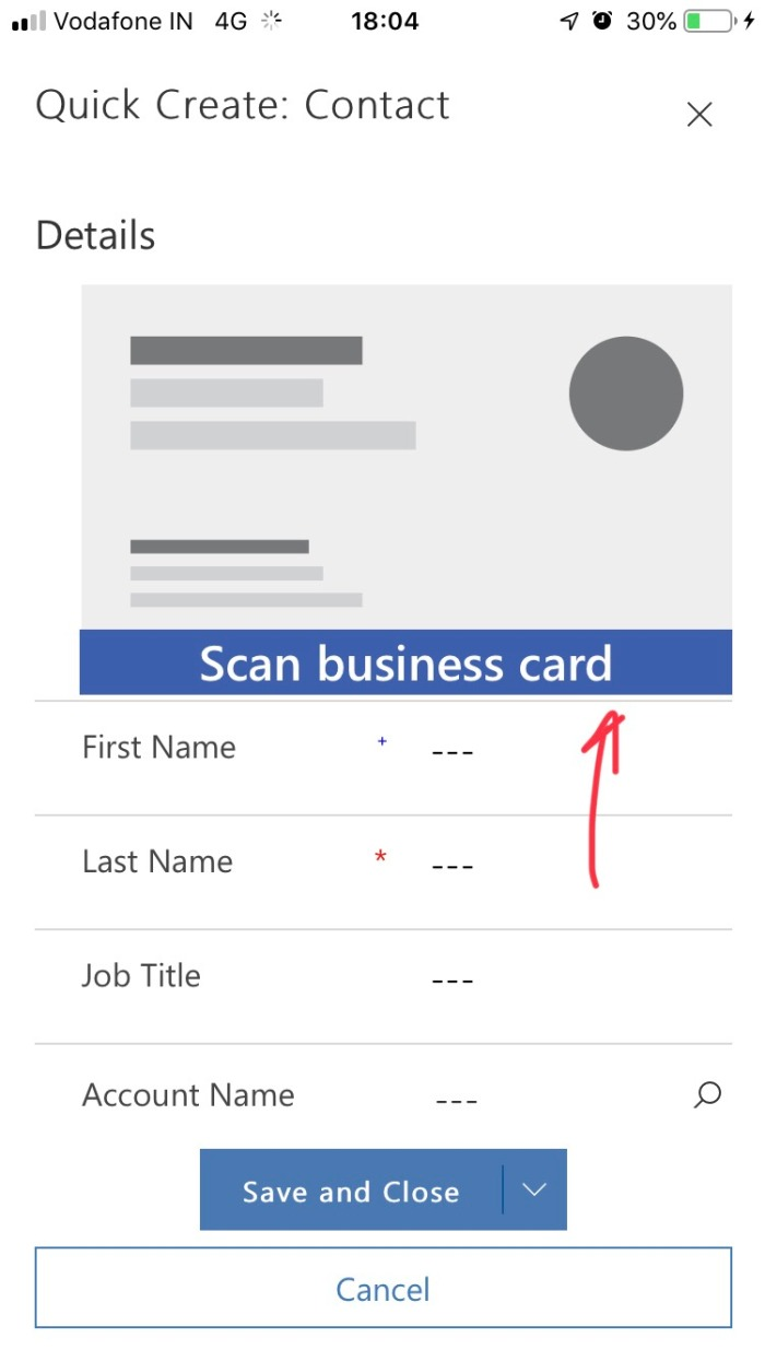 Business Card Scan In D365 Ce Wave 2 Updates D365 Demystified
